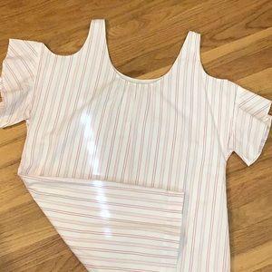 Madewell cold shoulder dress L